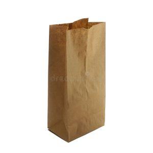 Checkout brown paper bag