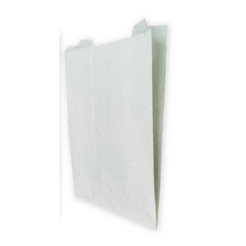 Flat satchel bag, (white)