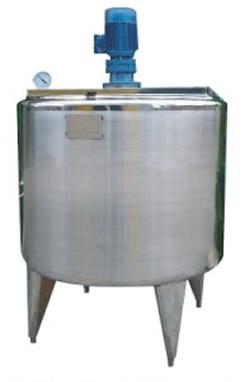Mixing tank, open lid, single jacket