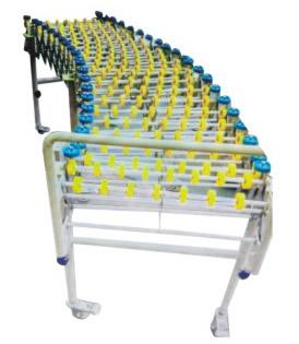 Stretch flange roller conveyor